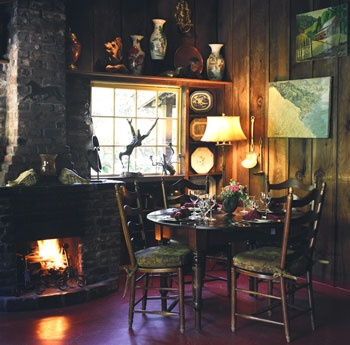 Cozy fireside dinner at Deetjen's.