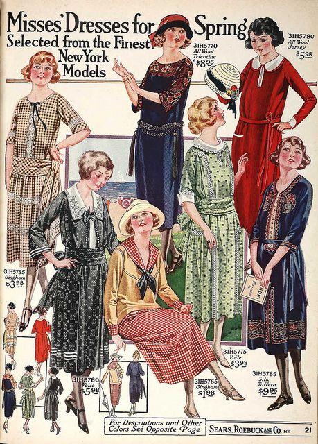 Mode Jeunes filles - Eté années 20