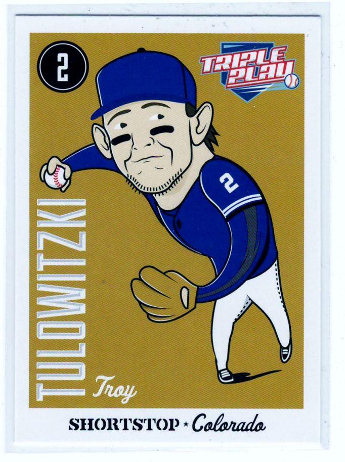 Sports Cards Baseball – 2012 Panini Triple Play Troy Tulowitzki – 3 Card Lot