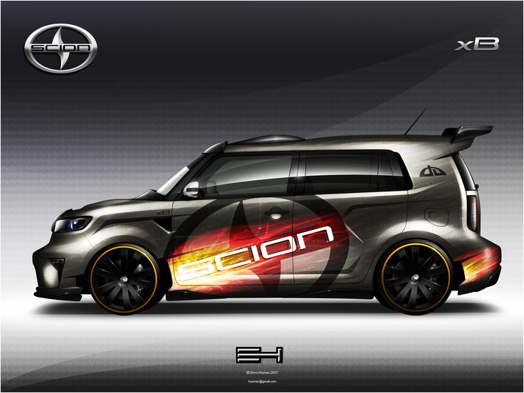The second-generation Scion xB is styled as a 5-door version of the t2B concept unveiled at the 2006 New York Auto Show. Description from vehiclearts.com. I searched for this on bing.com/images