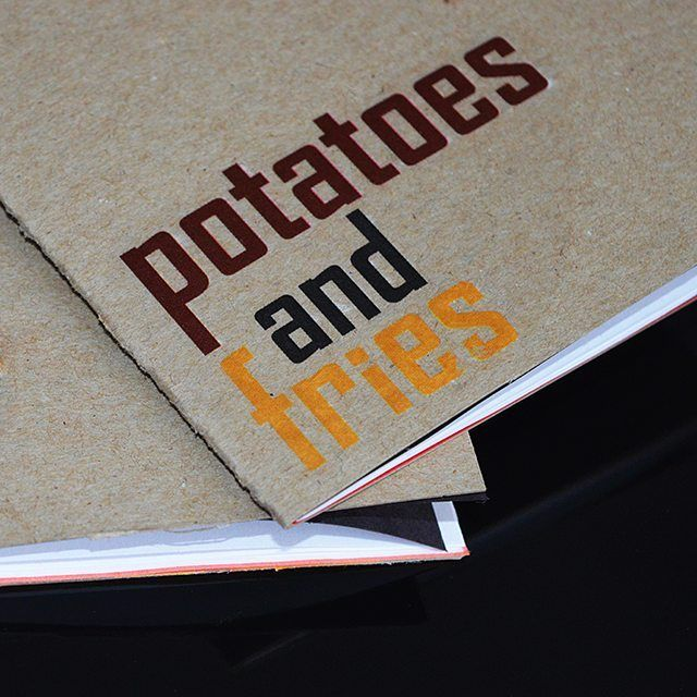 Potatoes and Fries notebooks!!!   #potatoesandfries #pandf #food #potato #book #paper #notebook #writing #diy #craft #bookbinding #lables