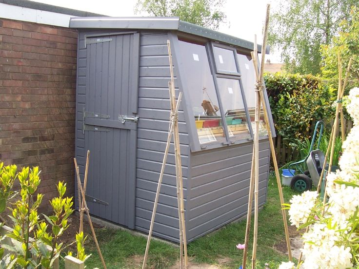 I would paint my potting shed grey too garden furniture for Potting sheds for sale