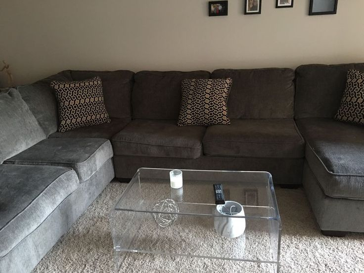 Gray Sectional sofa  | Home & Garden, Furniture, Sofas, Loveseats & Chaises | eBay!