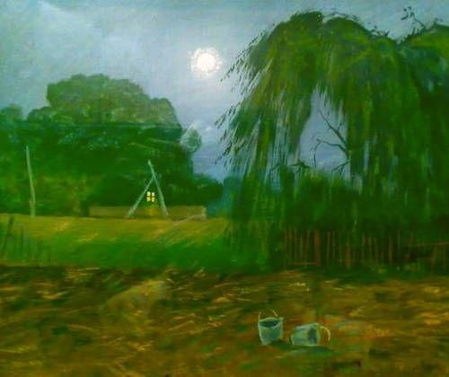 Картины (живопись) : Пейзаж с луной