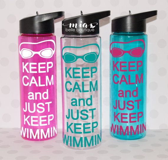 Personalized Swimmer water bottle, swimmer gift, swim team, bulk swim team gift, swim coach gift, swim water bottle, swim party favor