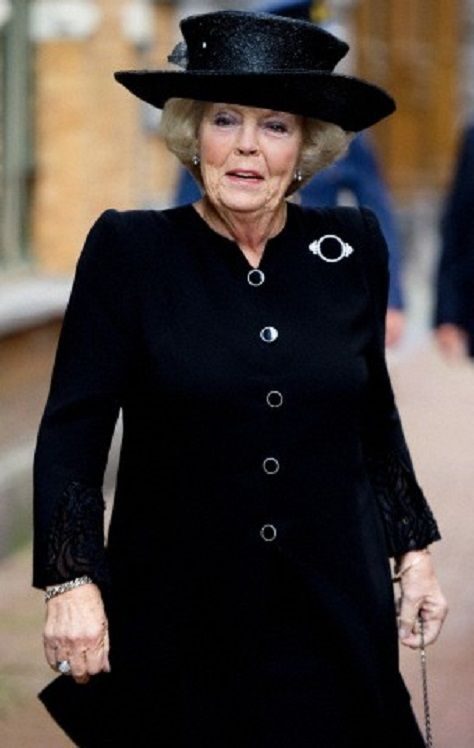 Princess Beatrix of the Netherlands attends the symposium anniversary the Lutheran community of Amsterdam 09.11.13