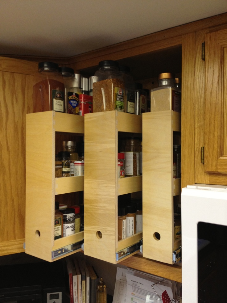 Why Be Bland When You Could Have A Killer Spice Cabinet Custom Roll Out Spice Shelves From