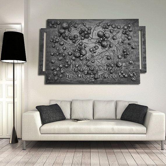Xaos,Mixed Media Collage,Art&Collectibles,Abstract Art,Sculpture Art, Contemporary Art,Silver Collage,Huge,Original Wall Art
