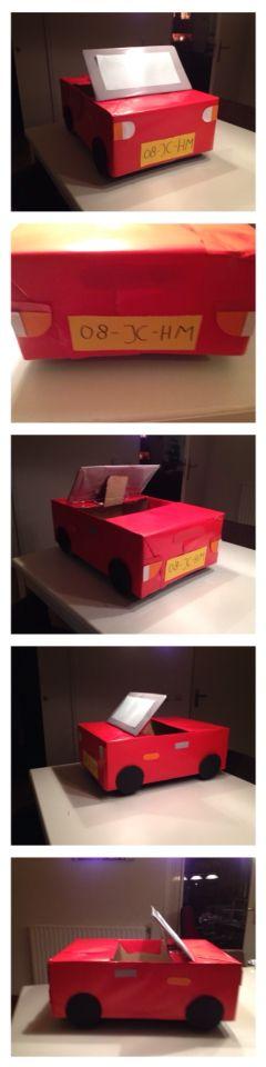 Surprise van een auto voor jongens (sinterklaas)