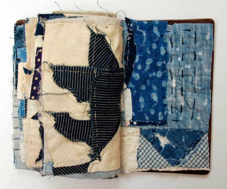 Fabric book by Mandy Patullo | Thread and Thrift: Blue Book
