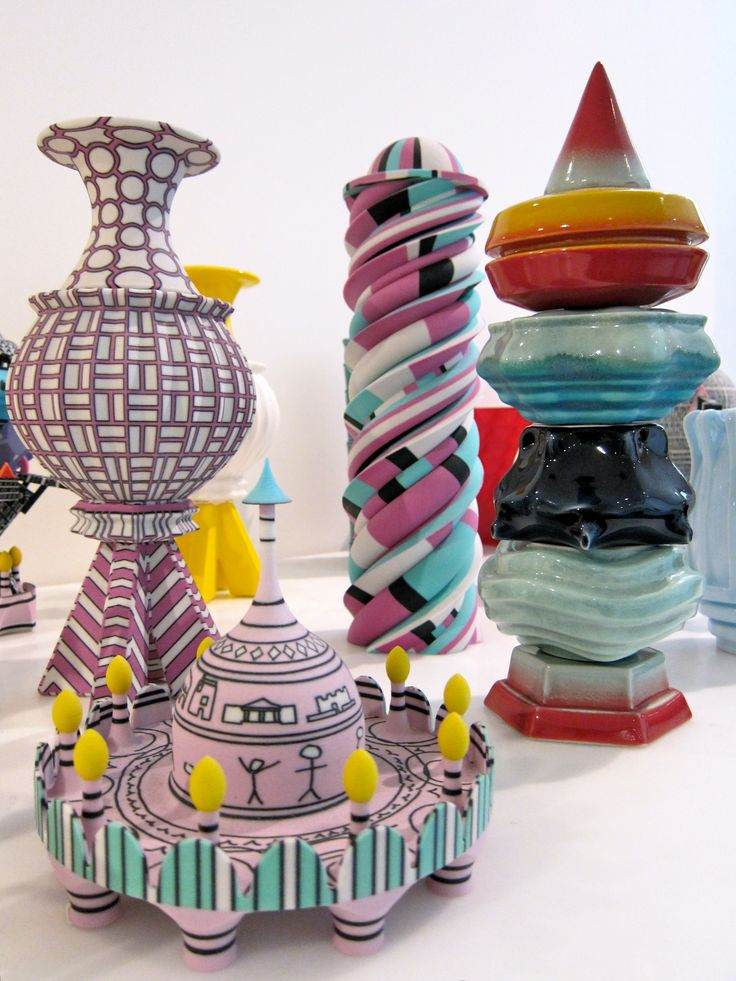 3D printed ceramics by Adam Nathaniel Furman. Shown to the young participants as part of a private tour of the exhibition.