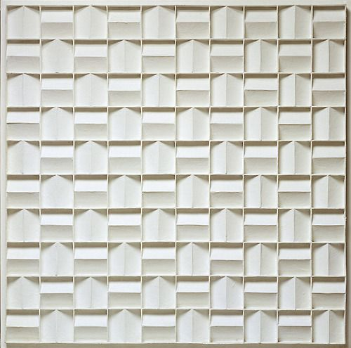 gemeentemuseum:  Happy Birthday to Jan Schoonhoven who would have turned 100 today! Jan Schoonhoven, Rhythmical Quadrate Relief, 1968, Collection Gemeentemuseum Den Haag.