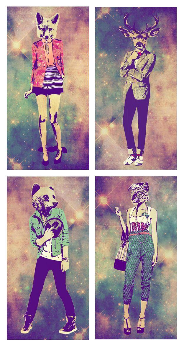 Cool fashion illustrations.