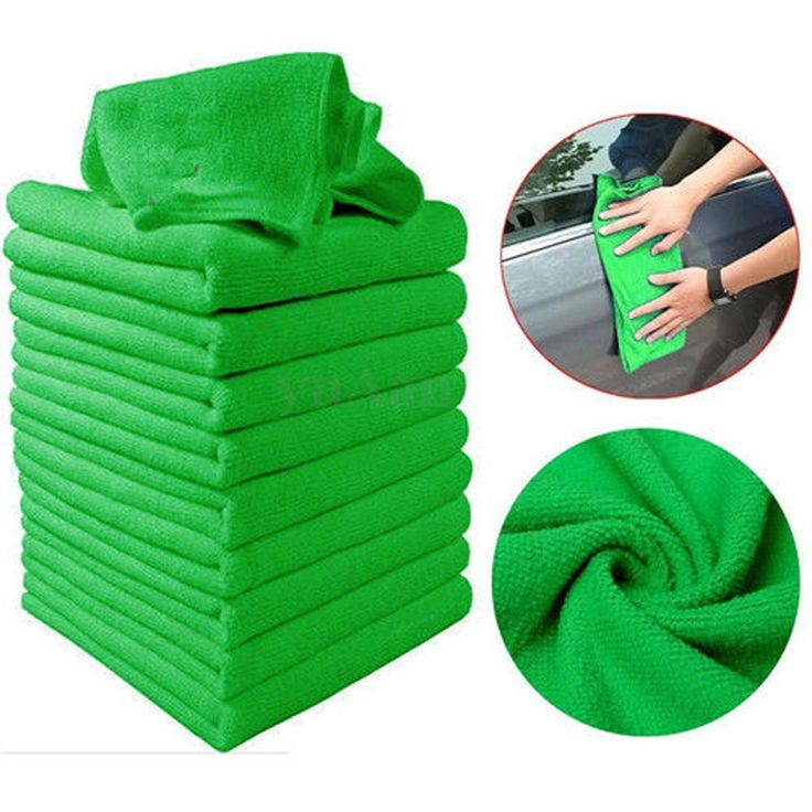 10pcs Green Microfiber Wash Cleaning Towels Soft Car Cleaning Duster Cloths 30x30cm #clothing,#shoes,#jewelry,#women,#men,#hats,#watches,#belts,#fashion,#style