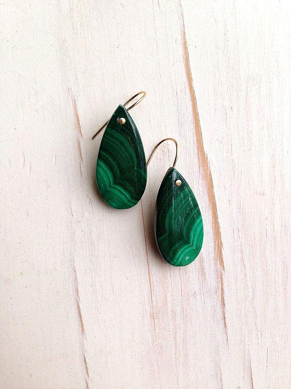 Malachite Earrings Malachite Jewelry Malachite by RobinWoodard