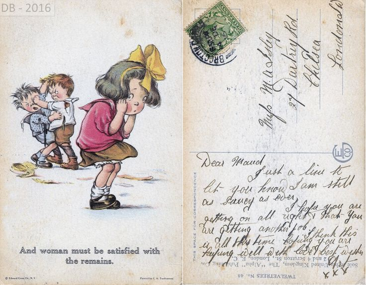 A playful picture postcard sent from Brocton Military Camp in December 1916 to Miss Maud Isley in Chelsea, London from Art saying 'just a line to let you know I am still as saucy as ever'... what a cheeky devil she must have thought LOL