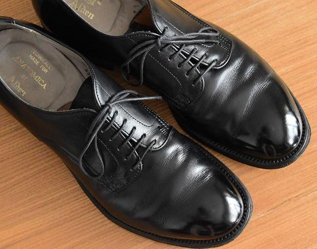 ny19890816 以前のポストを見たら1年3ヶ月ぶりの手入れでした。 カサカサに乾ききっていたので久しぶりに生き返った感じです。 最近は光らせるのは好きではないのですが、買ってすぐにアナトミカで中村隆一さんにワックスの使い方をこの靴で実践し教えていただきました。 以来この靴だけはしっかり光らせるようにしています。  #alden #aldenshoes #aldenarmy #anatomicaalden #anatomica 2017/09/23 12:00:42