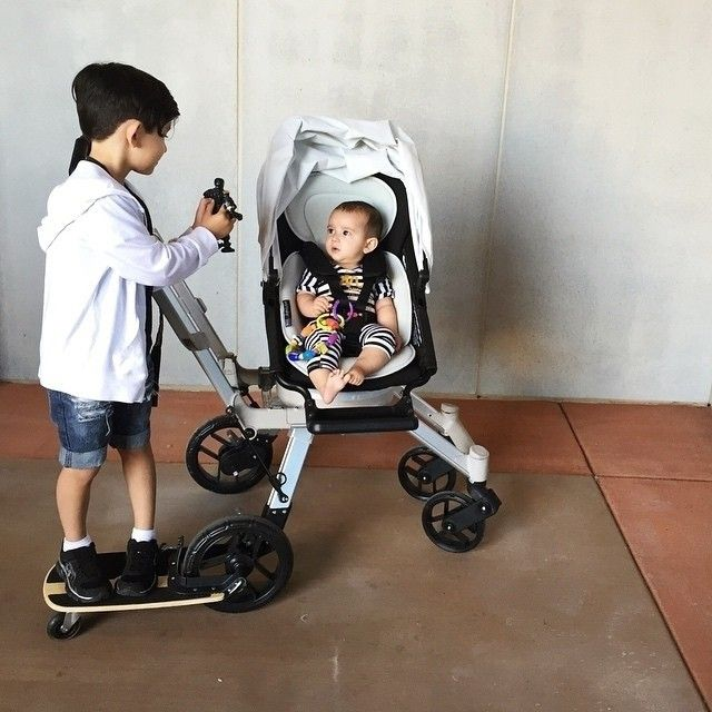 With its fun skateboard riding position, our Sidekick™ is the only stroller board your older children will actually ask to ride. Photo by @izabella_tovar #wemovewithyou #orbitbaby #orbitfamily