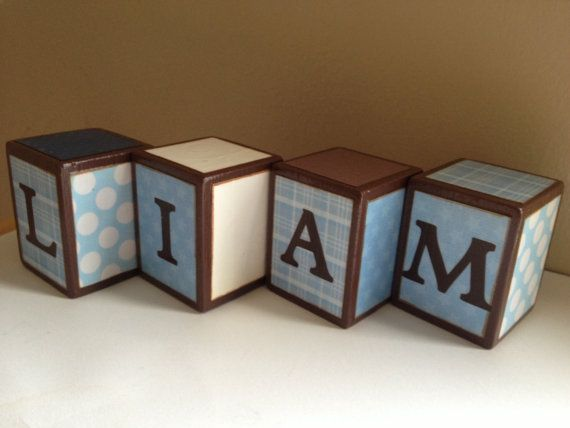 custom wood letter blocks blocks personalized baby gift With custom baby block letters