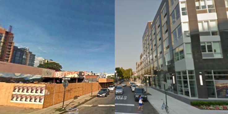 Using A.I. to measure physical urban change (with before and after pictures) [OC]