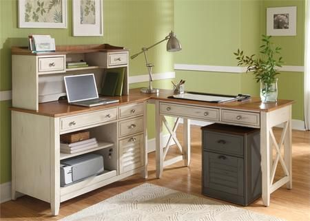Ocean Isle Collection 303 Ho Cds 4 Piece Complete Desk With Writing Computer Credenza