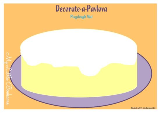 Possum Magic Party -Pavlova Playdough Mat by My Little Bookcase