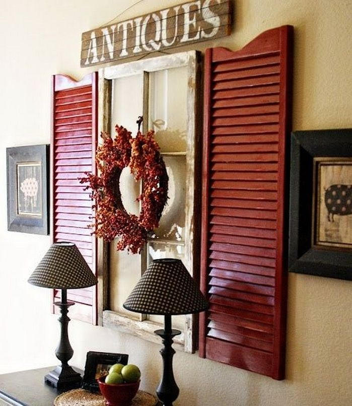 Ideas for Decorating Old Windows | Decorating, Window and Walls