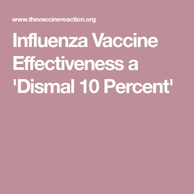 Influenza Vaccine Effectiveness a 'Dismal 10 Percent'