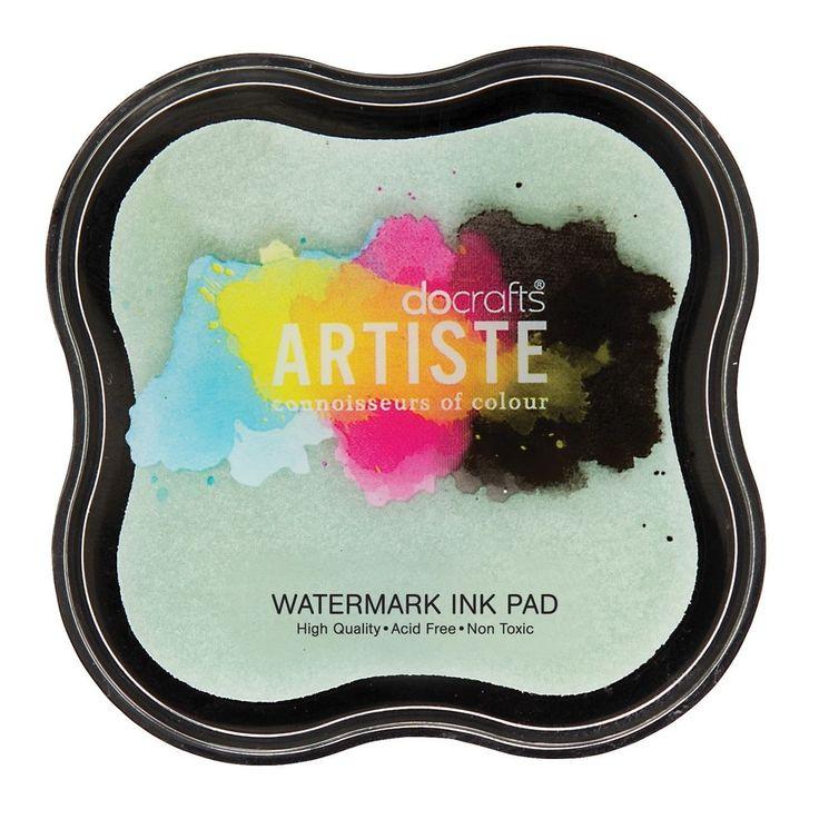 TAMPONE WATERMARK INK Tampone di inchiostro tono su tono, adatto per creare effetti filigranati e per embossing. Non tossico ed ideale per essere utilizzato anche da bambini.