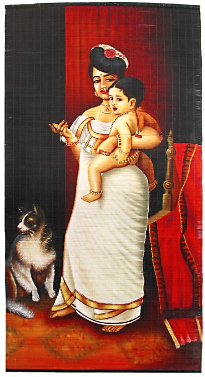 Mother & Child, Indian Art includes Rajasthani Paintings, Figurative paintings