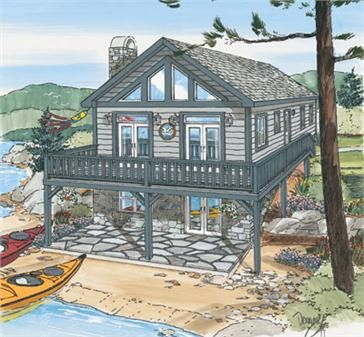Woodlands Cottage B House Plans Pinterest