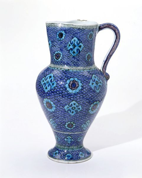 Jug      Place of origin:      Iznik, Turkey (probably, made)     Date:      ca. 1545 (made)     Artist/Maker:      Unknown (produ...