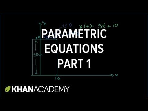 Calculus 2 Lecture 10.2: Introduction to Parametric Equations - YouTube