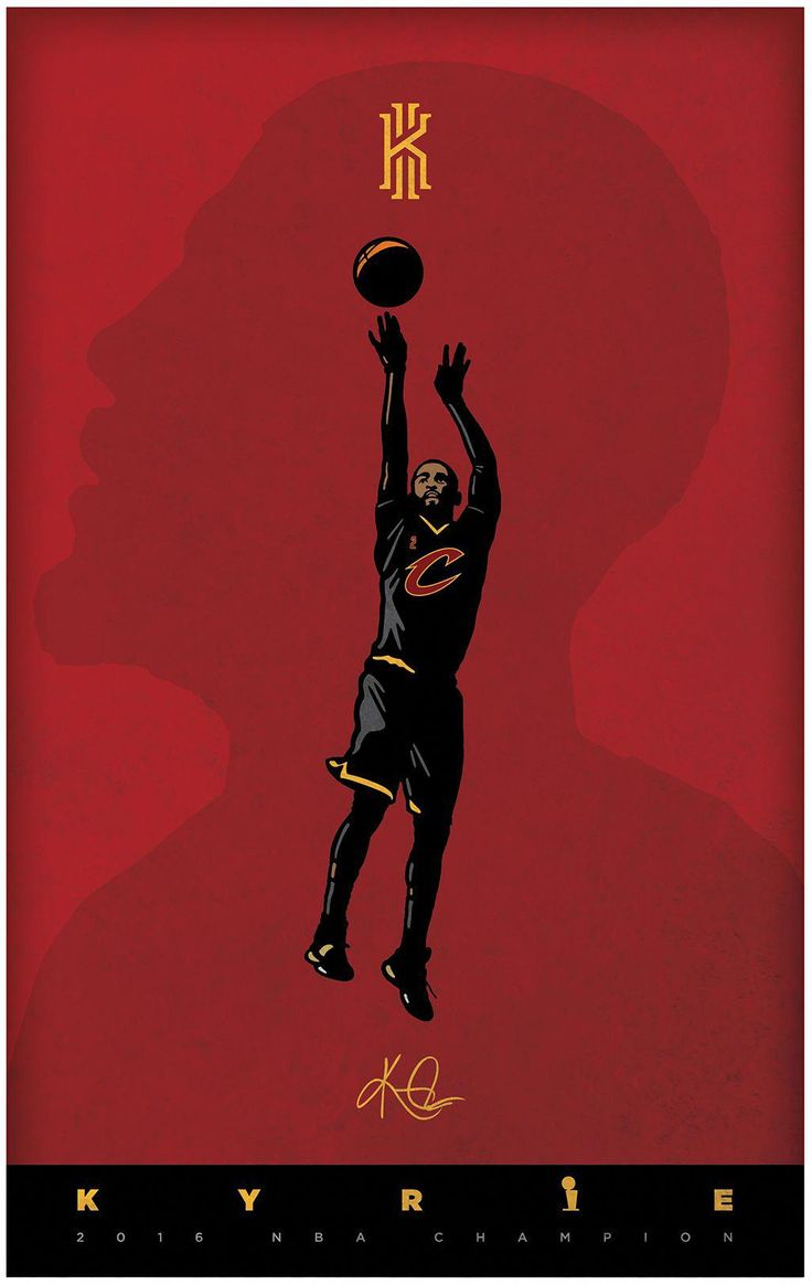 Kyrie Irving poster designed for my son. #basketballtips