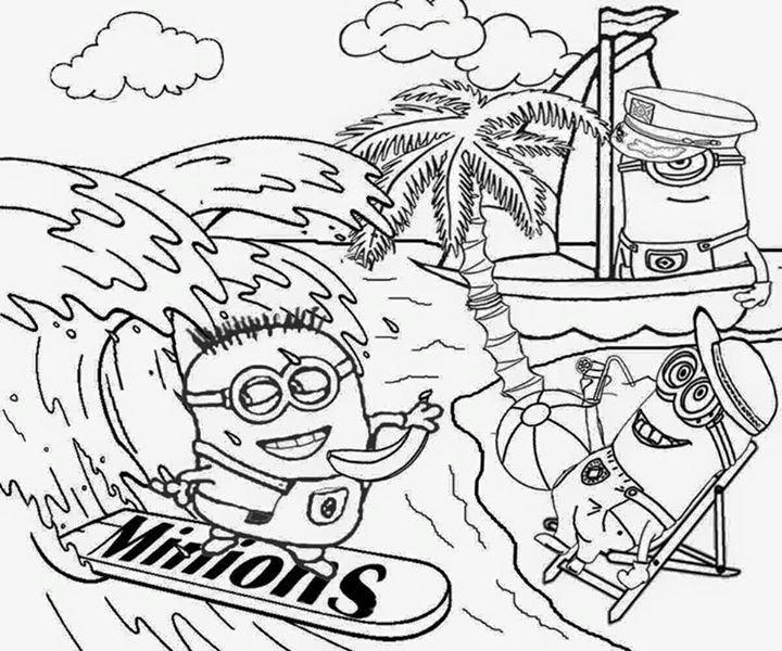 Coloring Pages Minions Painting
