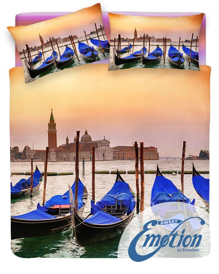 Digital Dream // Variante #Venezia #Venice #lenzuola #coppiafedere #copripiumino #trapunta  www.sweet-emotion.it