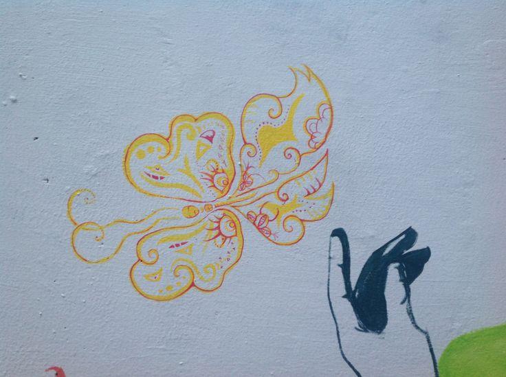 Particolare murales dedicato a Elisa Saiani - sottopassaggio romea dir S.Antonio Ravenna - autori Anna Agati e Alessandro Lonzi