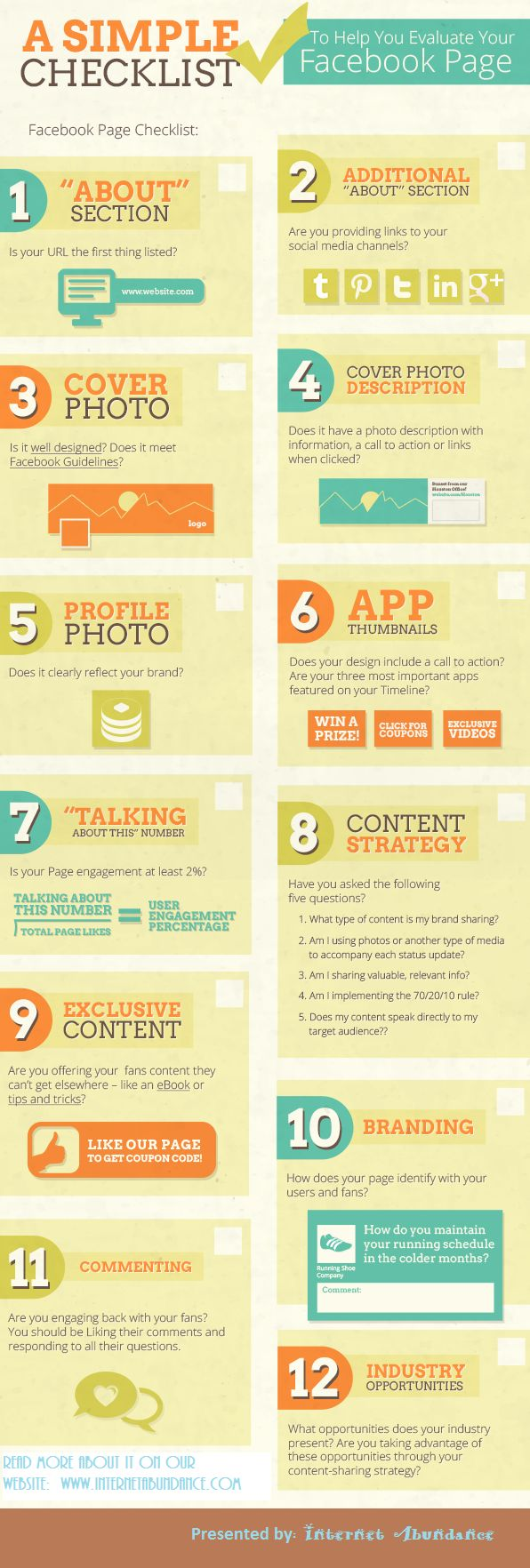 A Simple Checklist To Help You Evaluate Your Facebook Page #infographic