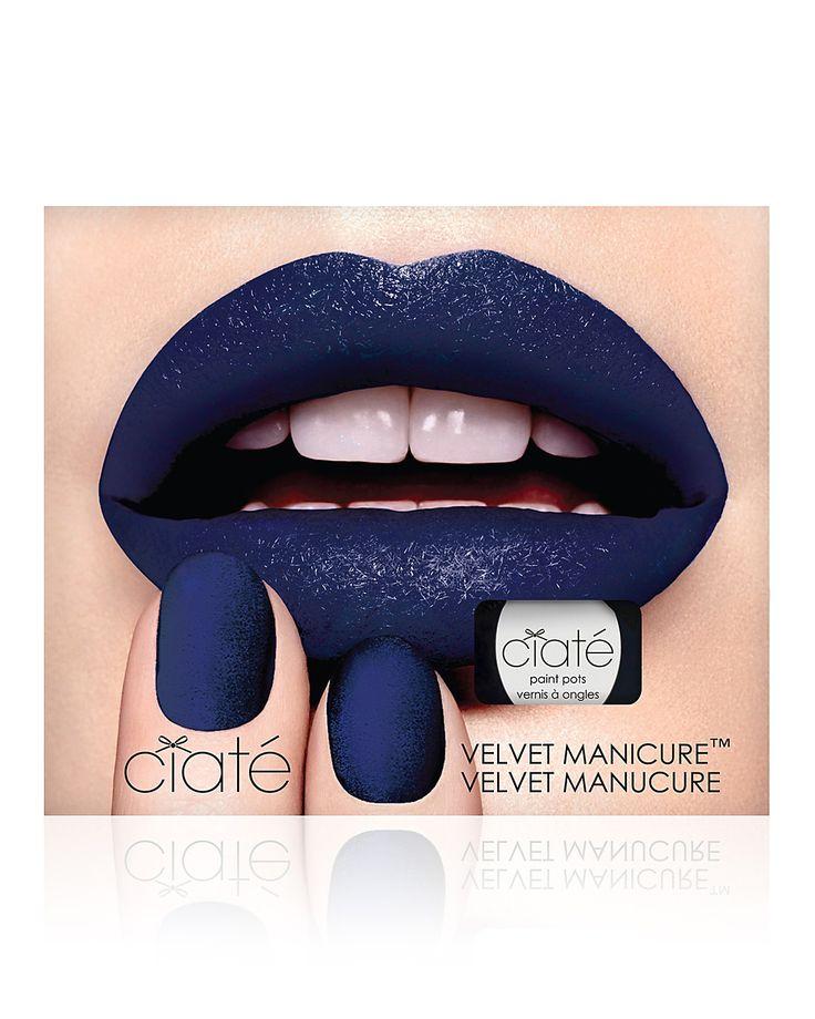 Ciaté Velvet Manicure Set, Blue Suede