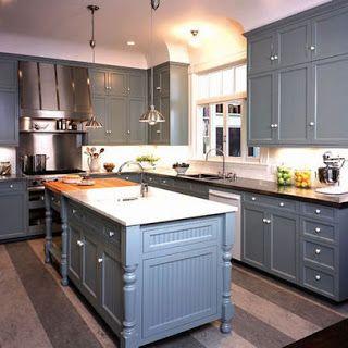 Armários de cozinha cinzentos   Grey kitchen cabinets