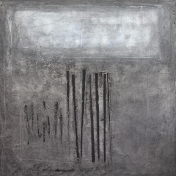 7/7 (2010) 120x120cm mixed media on canvas daniel soukup