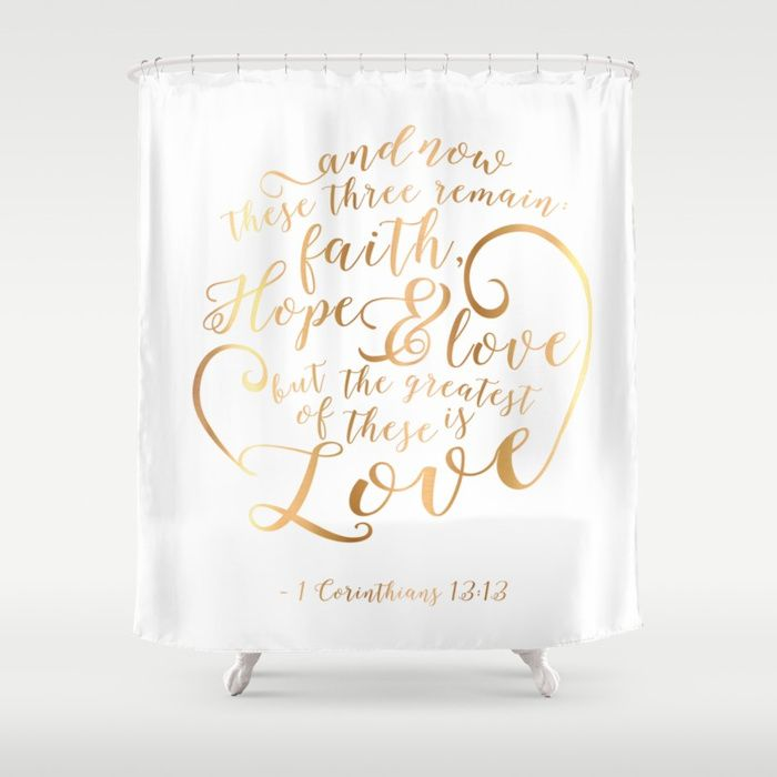 Faith Hope Love Shower Curtain Faith Hope Love Faith Hope Hope Love