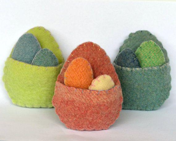 Felt KIT:/ Easter egg pouch felt softie - includes materials & pattern - DIY Craft - gift Simple kids craft idea. etsy.com Australia