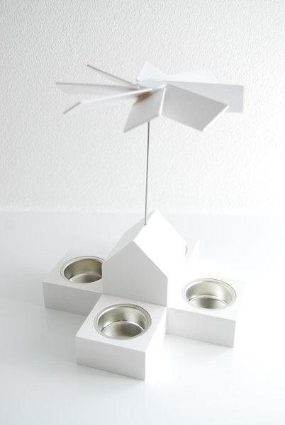 Pyramidenhaus M weiß von Cultform-Design auf DaWanda.com www.cultform.de @cultform