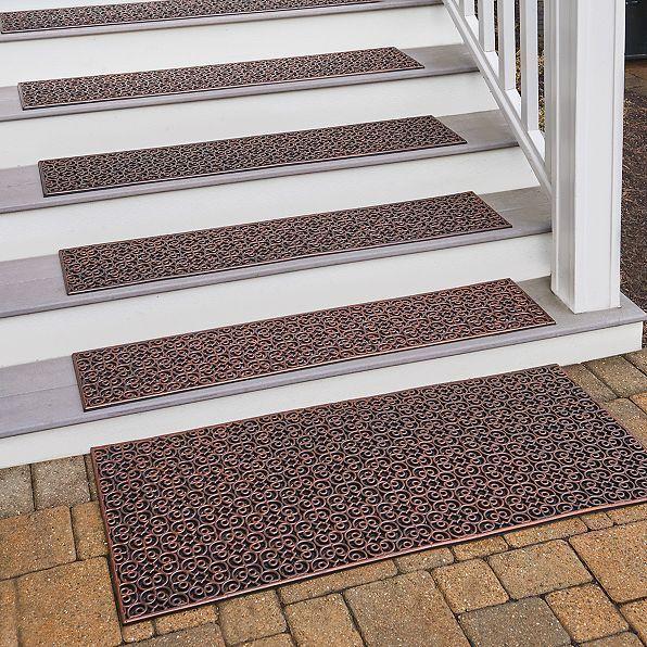 New Geometric Rubber Mat Stair Treads