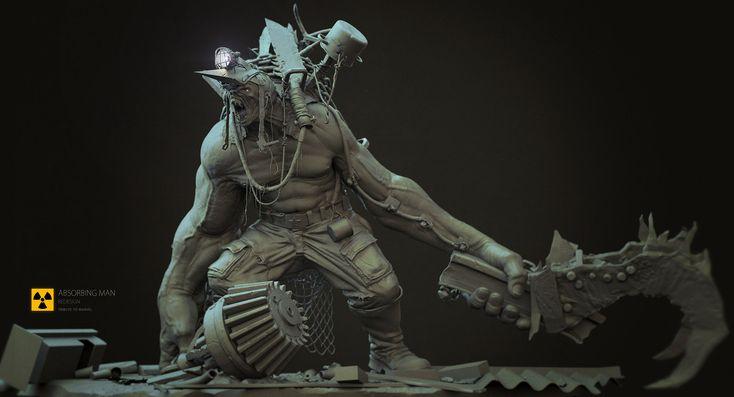 Absorbing man / Tribute to Marvel, Marat Ars on ArtStation at http://www.artstation.com/artwork/absorbing-man-tribute-to-marvel