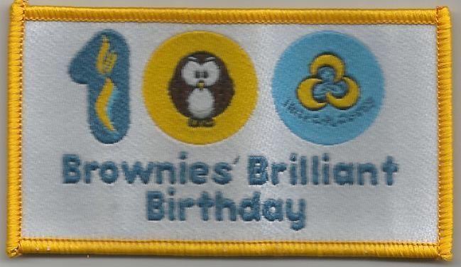 Irish Girl guides Big Brownie birthday centenary badge