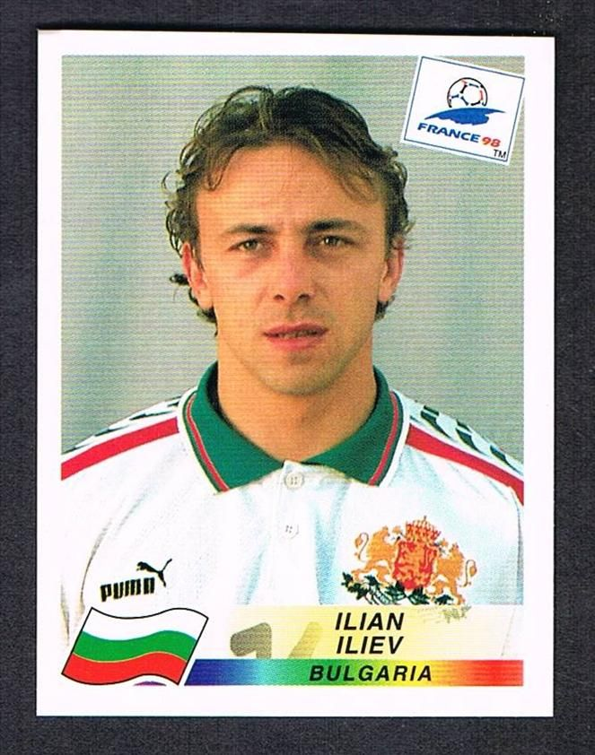 Image result for france 98 panini bulgaria iliev