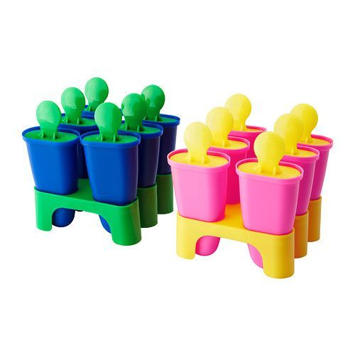 CHOSIGT Ice pop maker IKEA Fill with fruit juice and make your own ice pops. For the mold to easily loosen, rinse with lukewarm water.