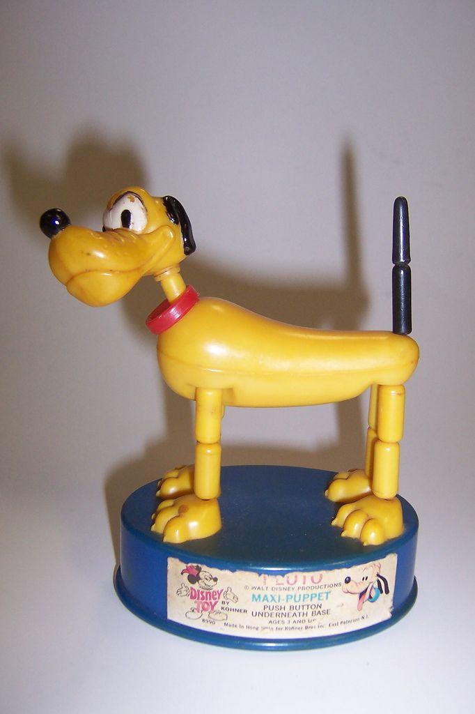 c1970 Kohner Pluto Push Puppet - Maxi size.